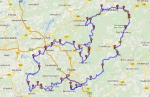 Walhalja-Siegerland route